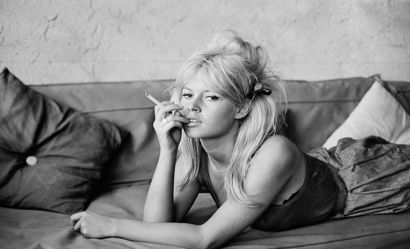 French Actress Brigitte Bardot on the set of movie Vie Privee