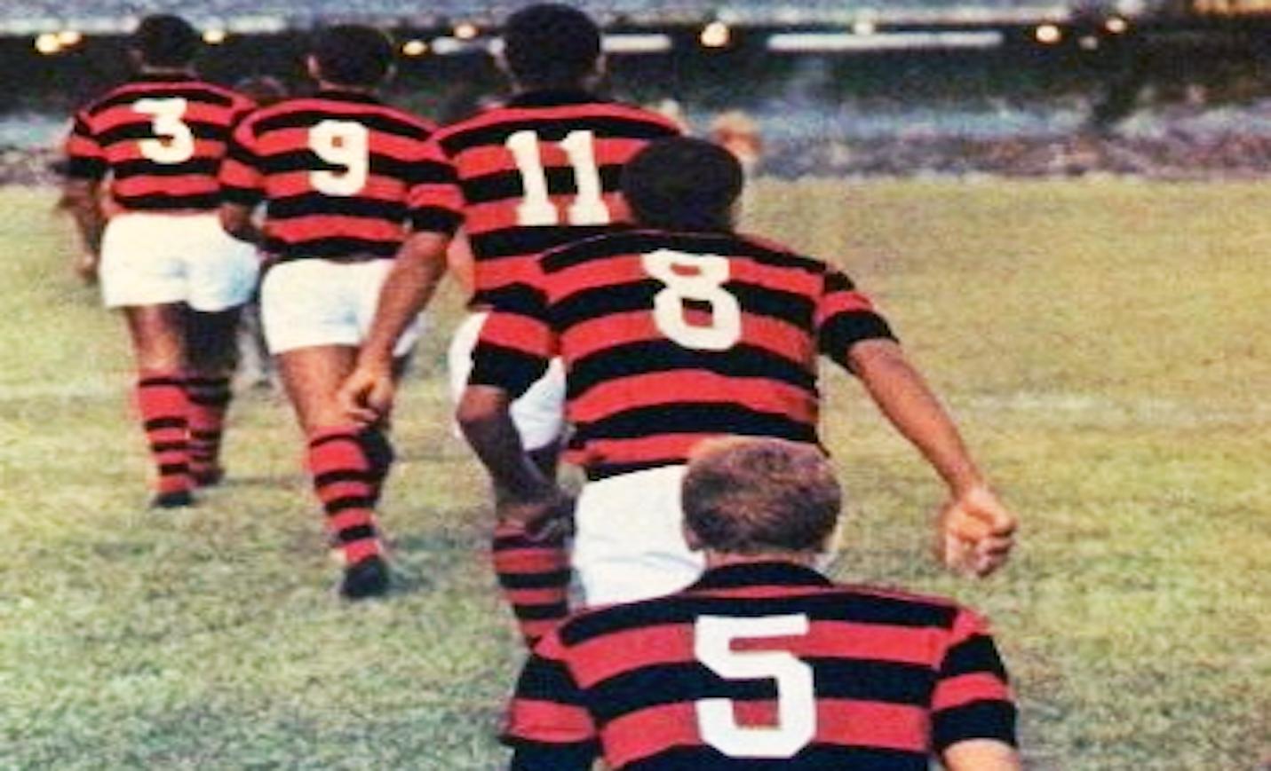 Elenco do Flamengo nos anos 1970. Foto: Autor desconhecido.