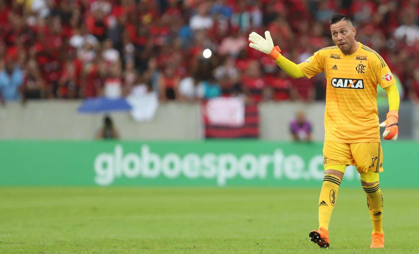 O goleiro Diego Alves, em foto de Gilvan de Souza/Flamengo.
