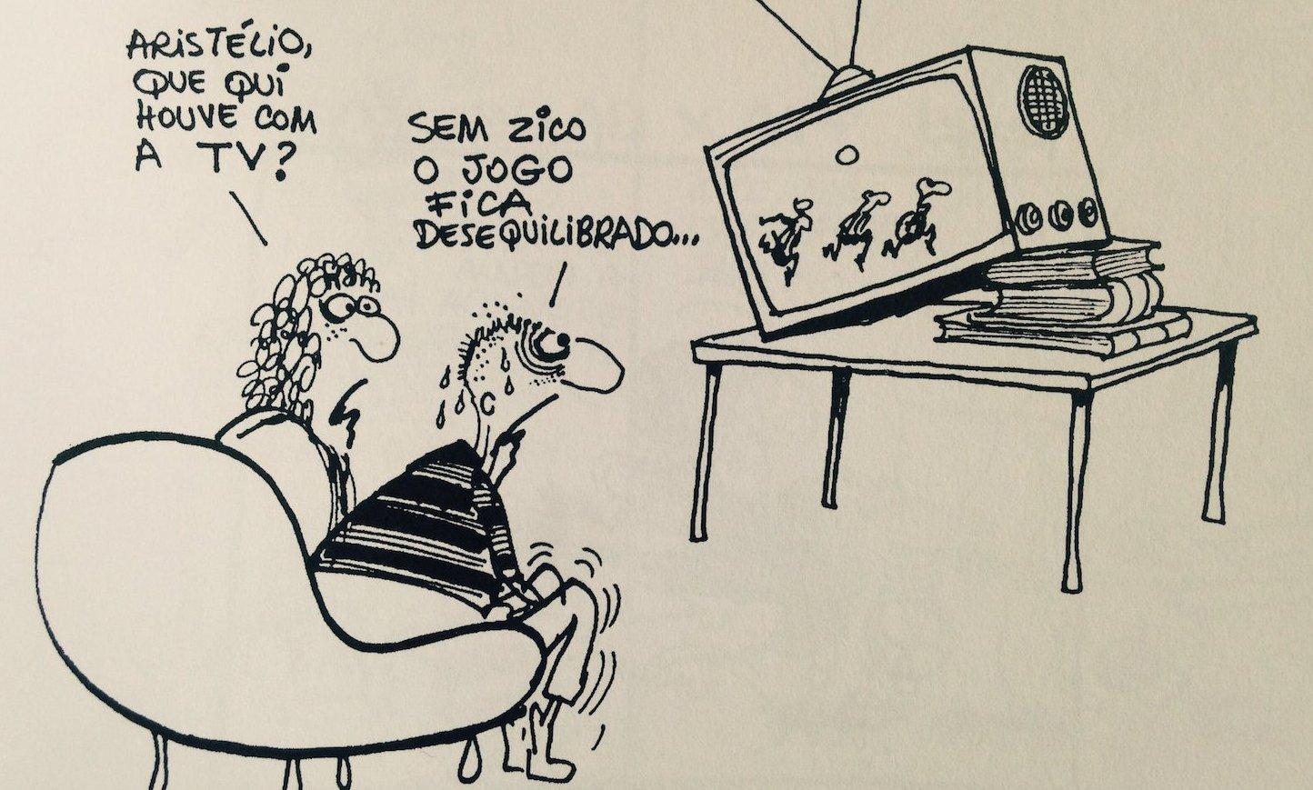 Henfil cartum Flamengo zico