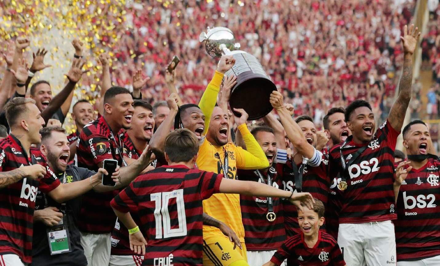 Flamengo celebra copa Libertadores Divulgacao