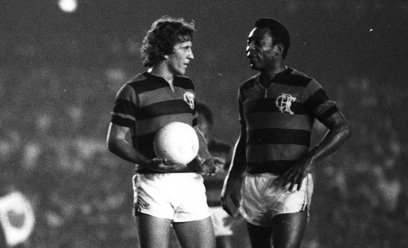 Zico e Pele em 1979